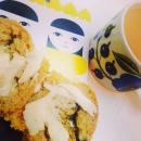 Helpot lehtikaalipesto-sämpylät ( tai muffinsit)