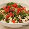 Tabbouleh-salaatti vesimelonilla ja fetalla