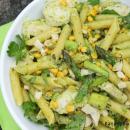 Kana-parsa-pastasalaatti & avokado-sitruunapesto