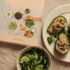 Avokadot katkarapu-cevichellä ja  Lautasellinen kauneutta