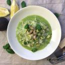 Avokado-katkarapurisotto tillipestolla