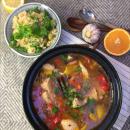 Marokkolainen kanapata & oliivi-sitruskuskus