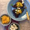 Punakaalirösti uunissa, appelsiinia ja fetaa