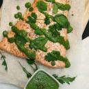 Uunilohi & salsa verde