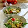 Gluteeniton kana-pastasalaatti & vihreä pesto