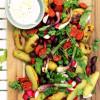 Grillattu chorizo-perunasalaatti & majoneesikastike