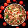 Rukiinen tomaatti-vuohenjuustopiirakka