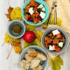 Kurpitsa-vuohenjuustosalaatti + kurpitsakooste