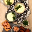 Maa-artisokkakeitto ja kylmäsavulohitartarleivät
