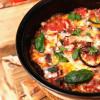Italialainen munakoisovuoka suppilovahveroilla