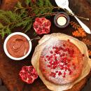Palsternakka-saksanpähkinäkakku &  suklaavaahto