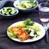 Dijonpaneroitu savutofu & salsa verde -muussi