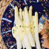 Valkoista parsaa,  hollandaisekastike & graavilohta