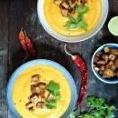 Porkkana-bataattikeitto & rapsakka tofu