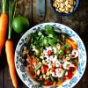 Thaimaalainen porkkana-katkarapusalaatti