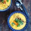 Paahteinen porkkana-tahinikeitto