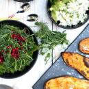 Avokado-kaurapalatäyte & paahdetut bataattiveneet