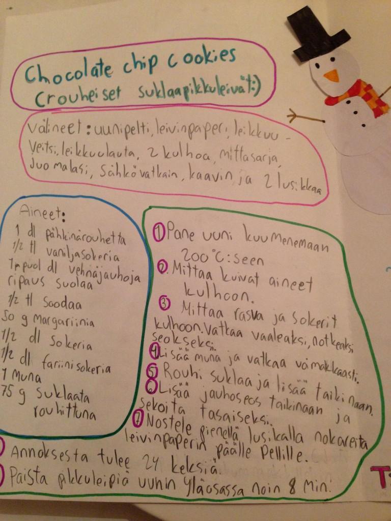 Suklaapikkuleipien ohje